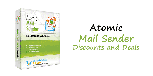Save up to 65% using this exclusive Atomic Mail Sender Discount Coupon from CoupBox